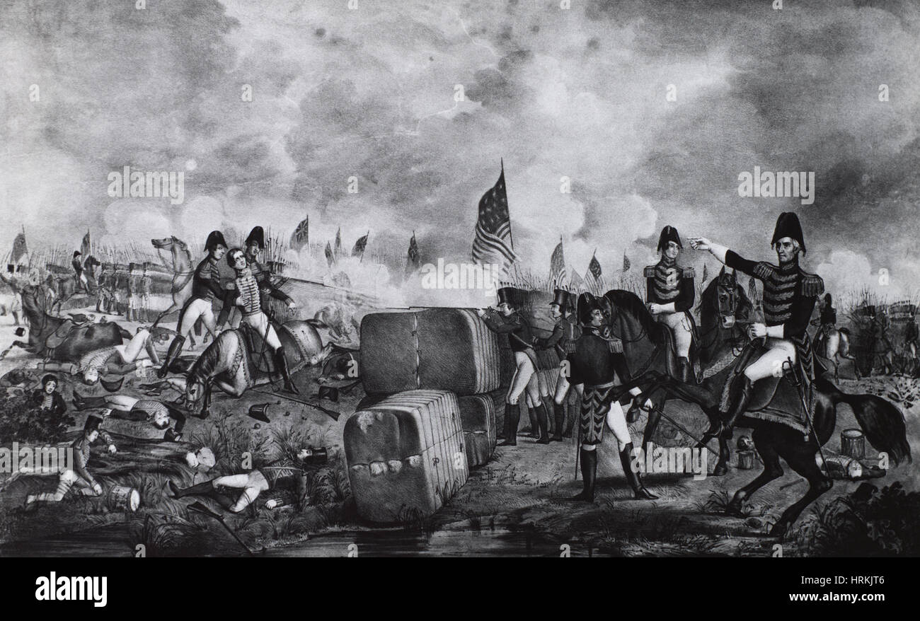 War of 1812, Battle of New Orleans - Stock Image
