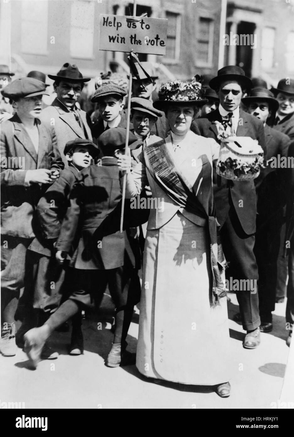 Suffragist Demonstrator - Stock Image
