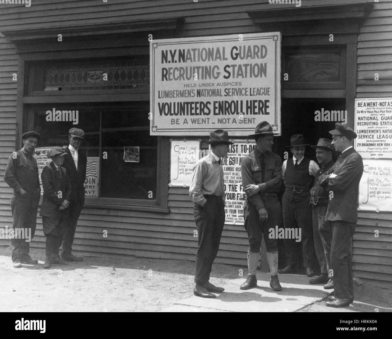 WWI, NY National Guard Recruitment - Stock Image