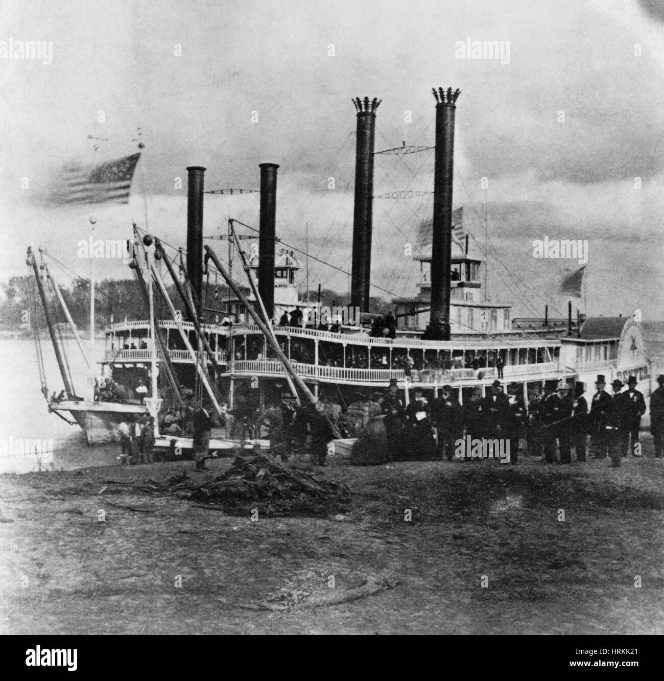 19th Century Steamer - Stock Image