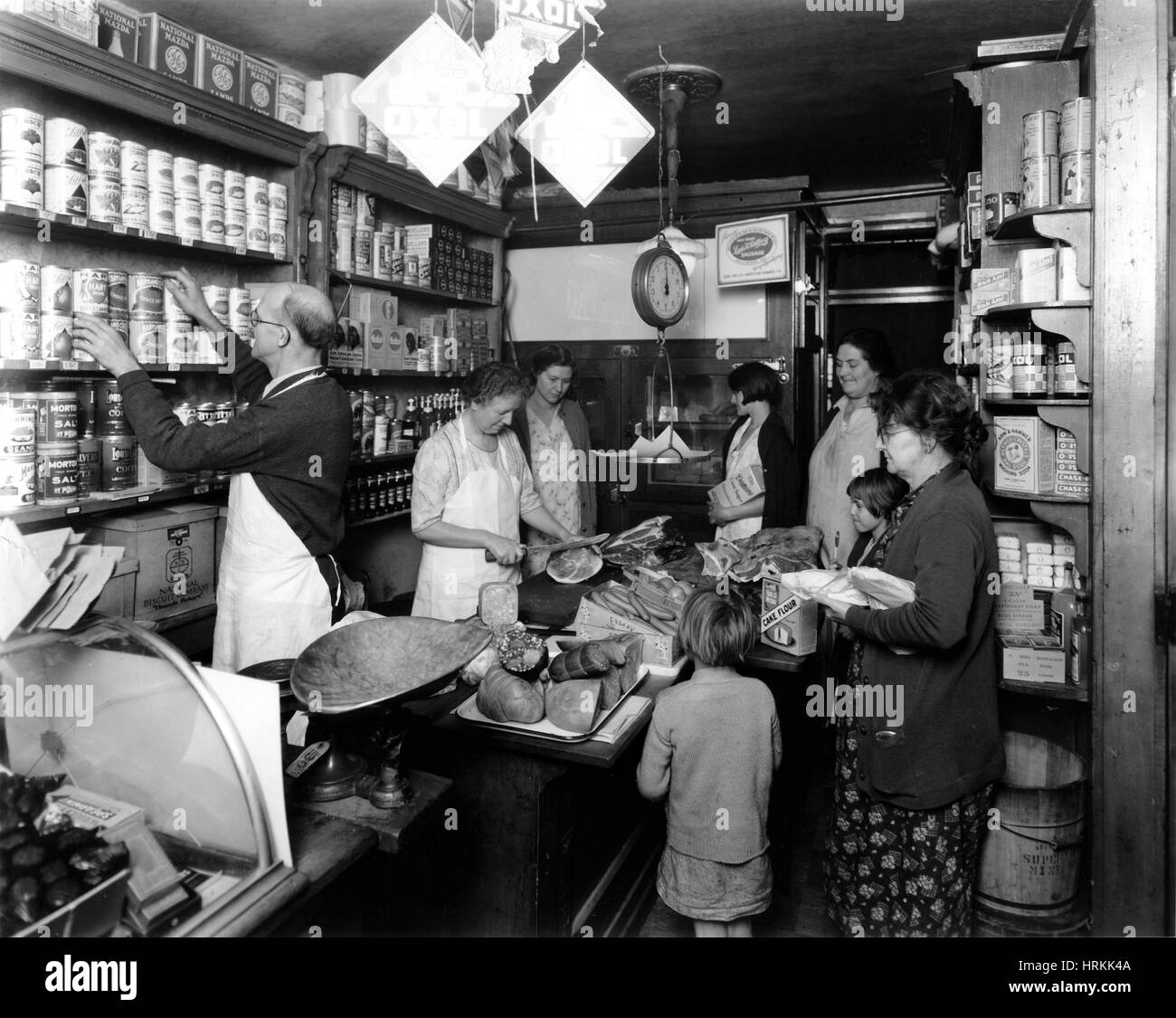 Fred Grover's Grocery Store - Stock Image