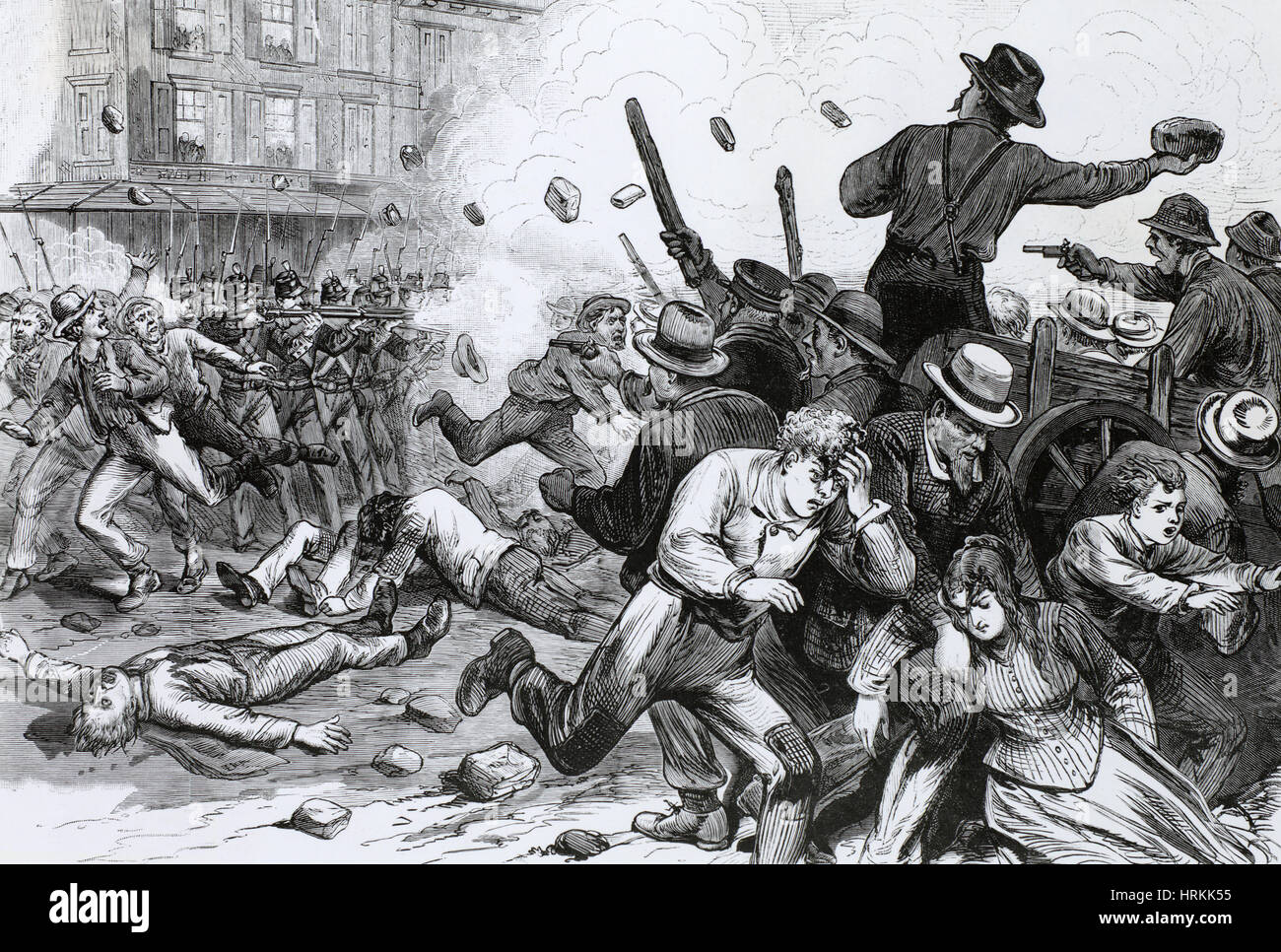 who was involved in the great railroad strike of 1877