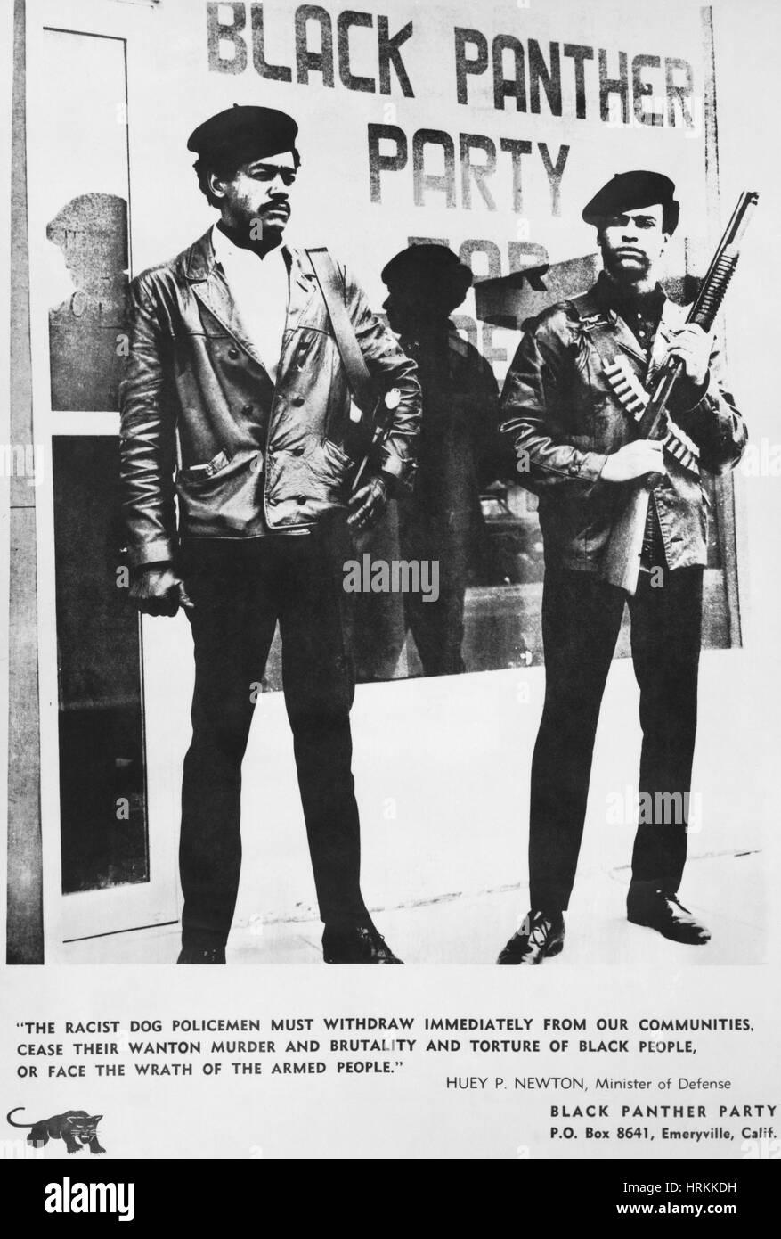 Black Panther Poster, 1968 - Stock Image