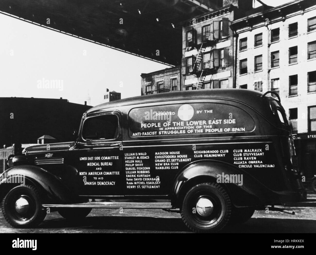 NYC Ambulance, 1930s - Stock Image