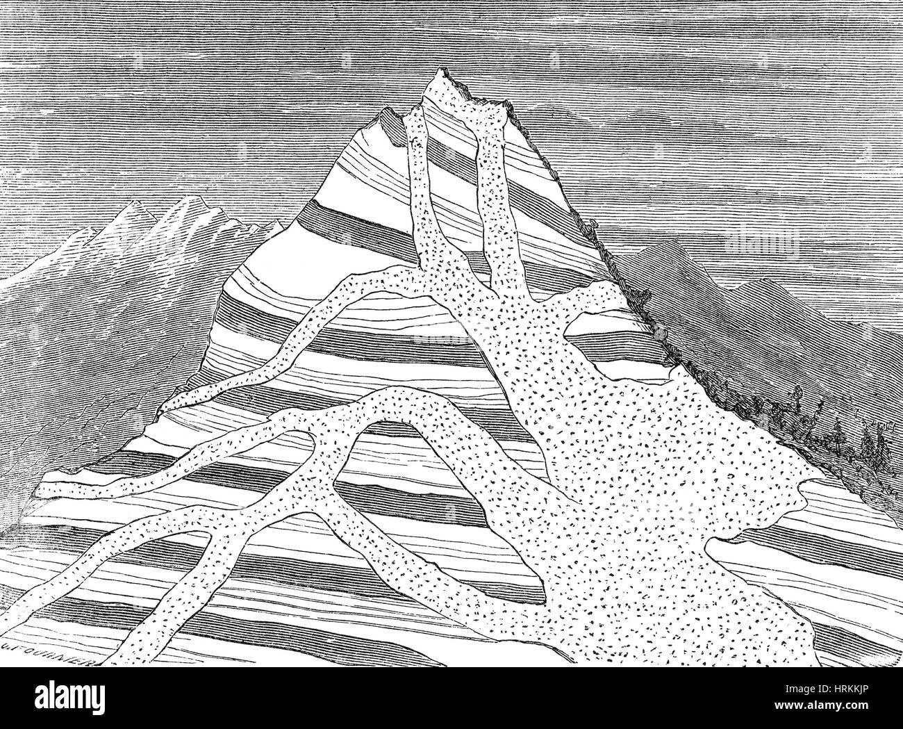 Granite Intrusion - Stock Image