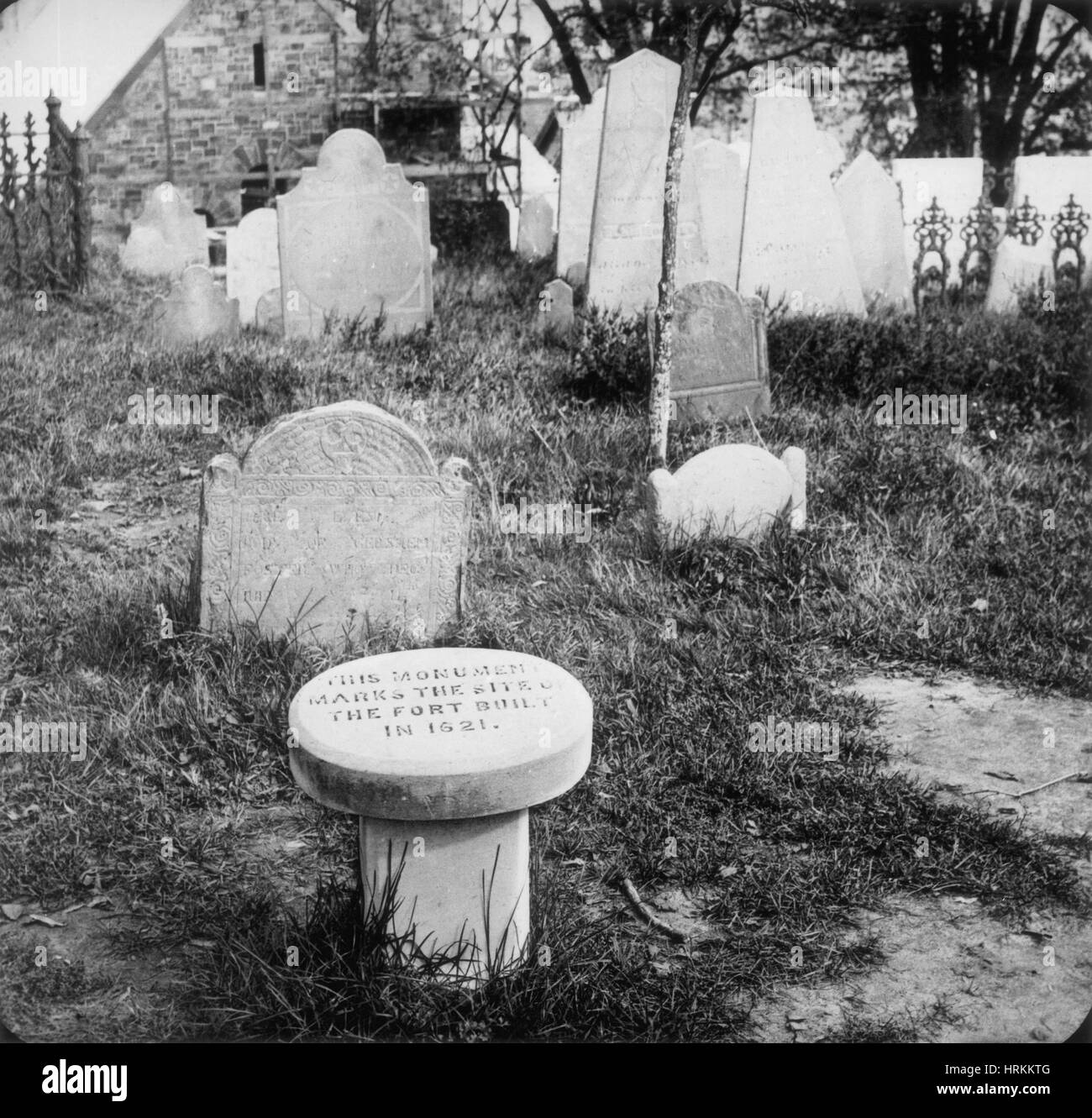 Burial Hill, Plymouth, Massachusetts - Stock Image