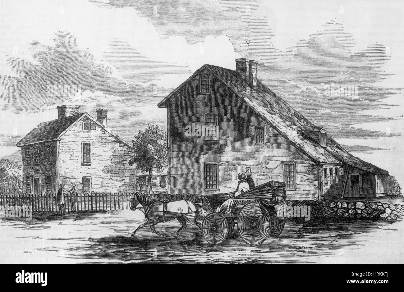 John Adams' Birthplace - Stock Image