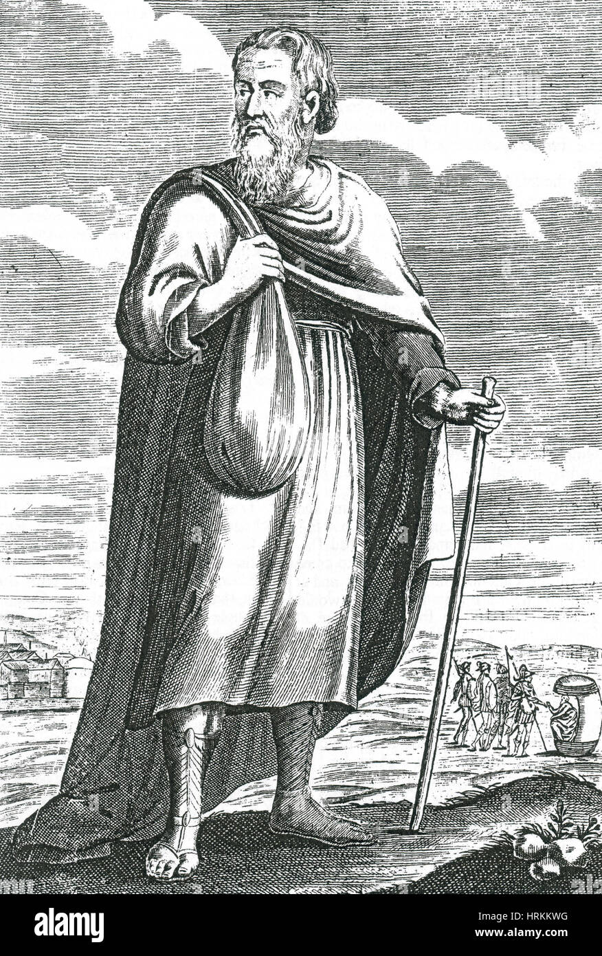 Diogenes Of Sinope Ancient Greek Philosopher Stock Photo