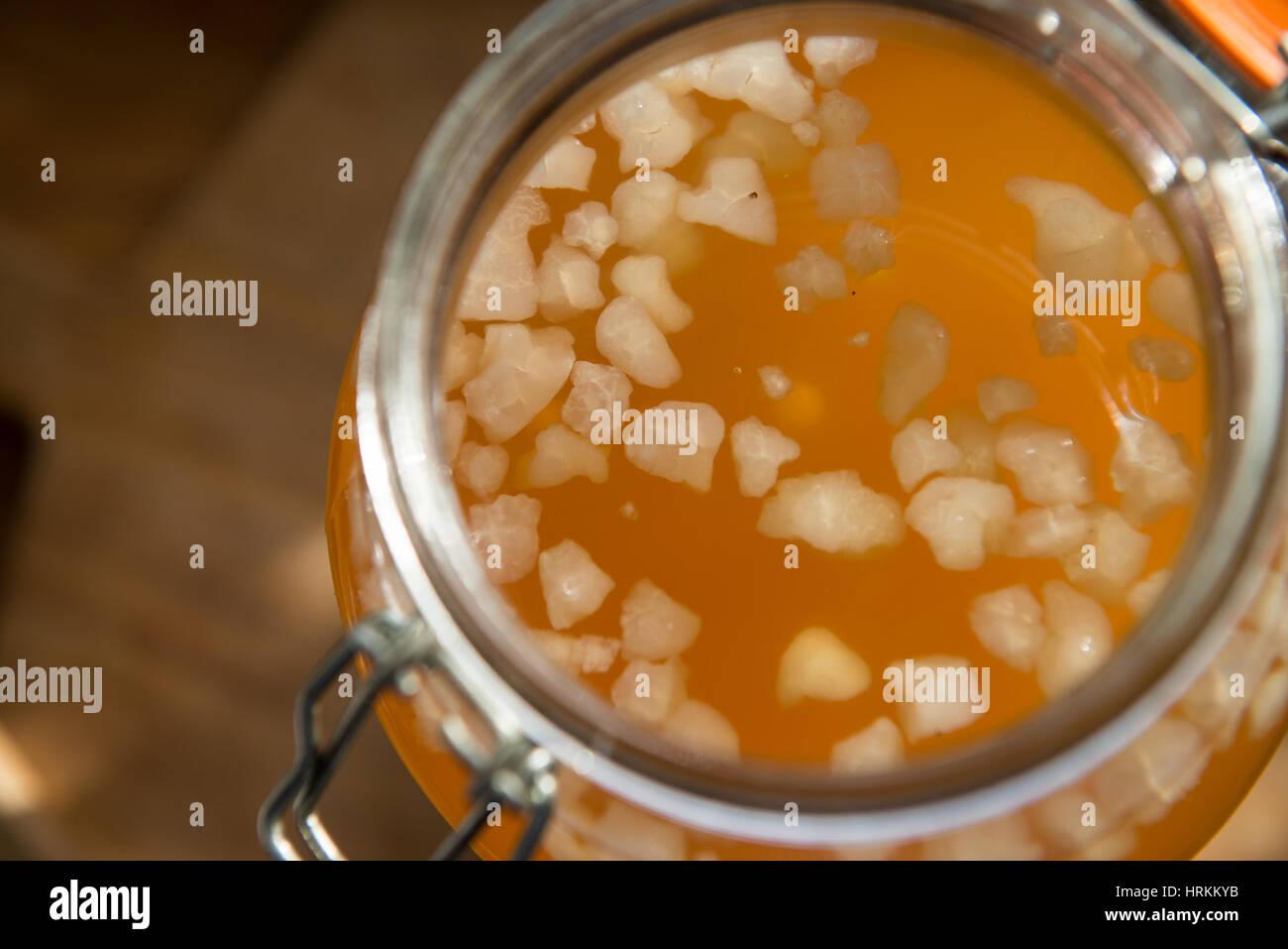 Homemade water kefir - Stock Image