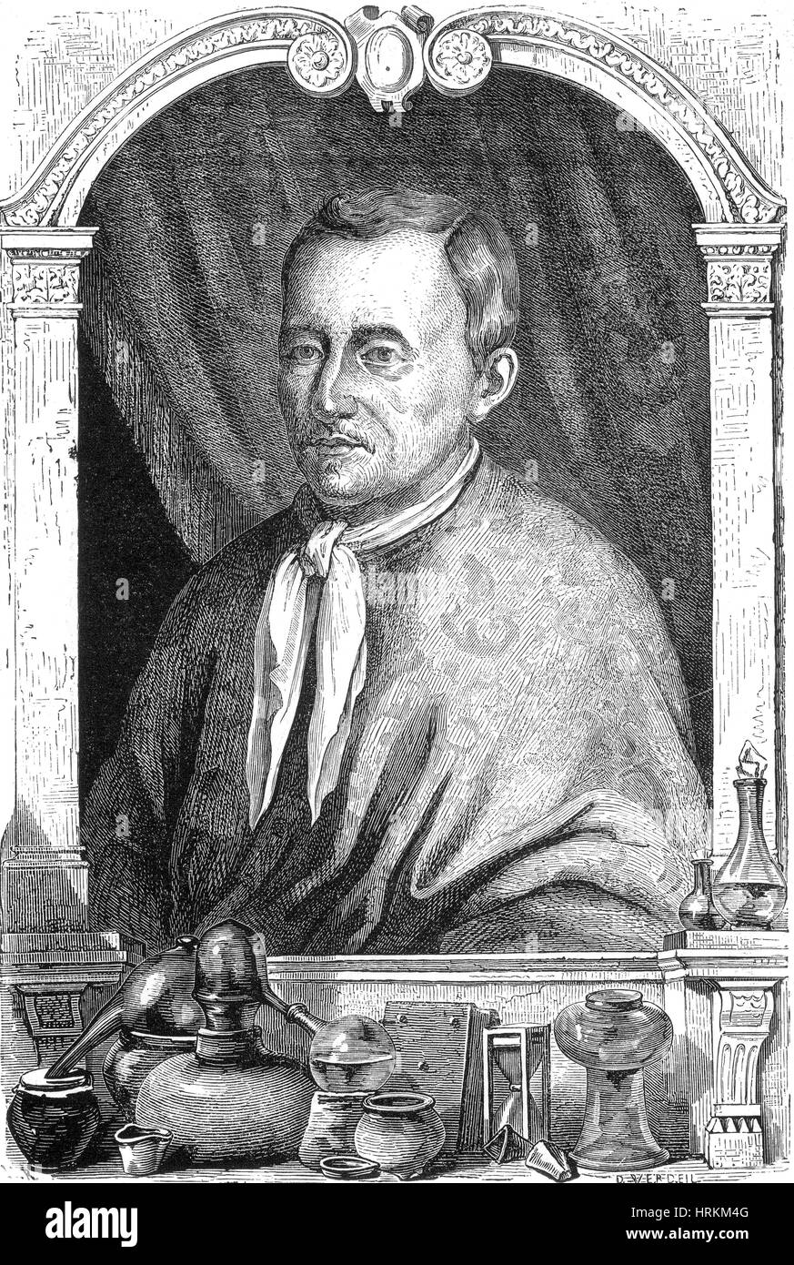 Jan Baptist van Helmont, Flemish Chemist - Stock Image
