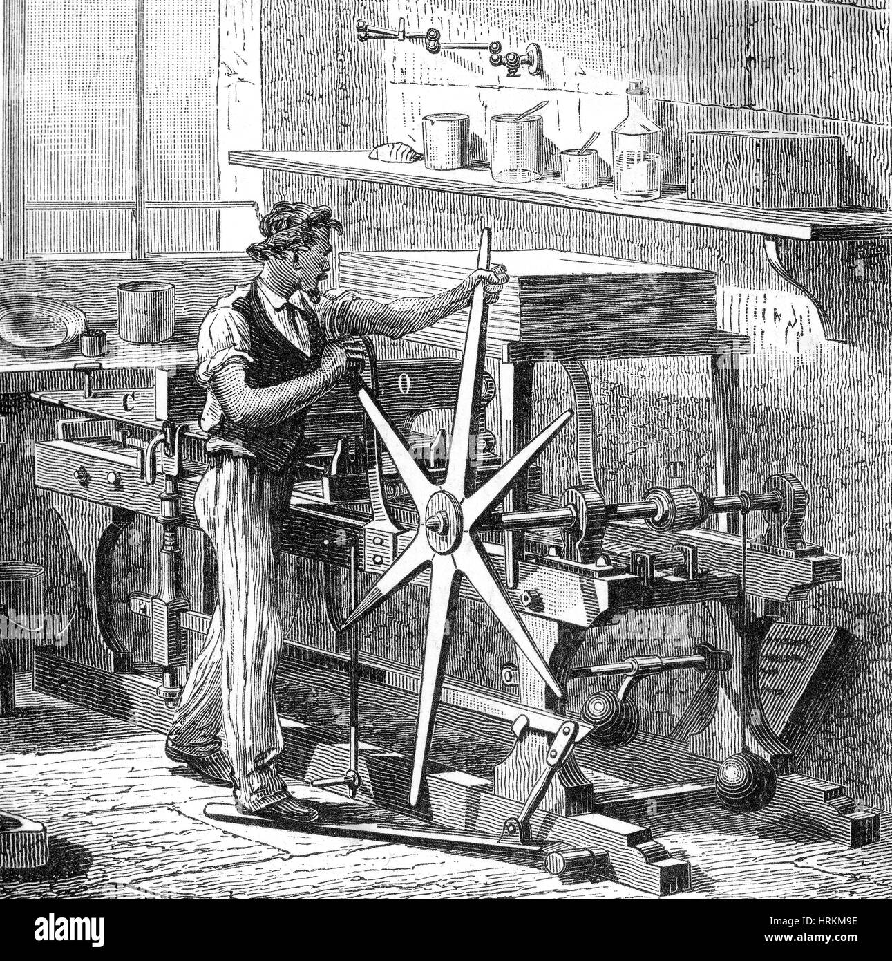 Intaglio, Copperplate Printing Press, 1882
