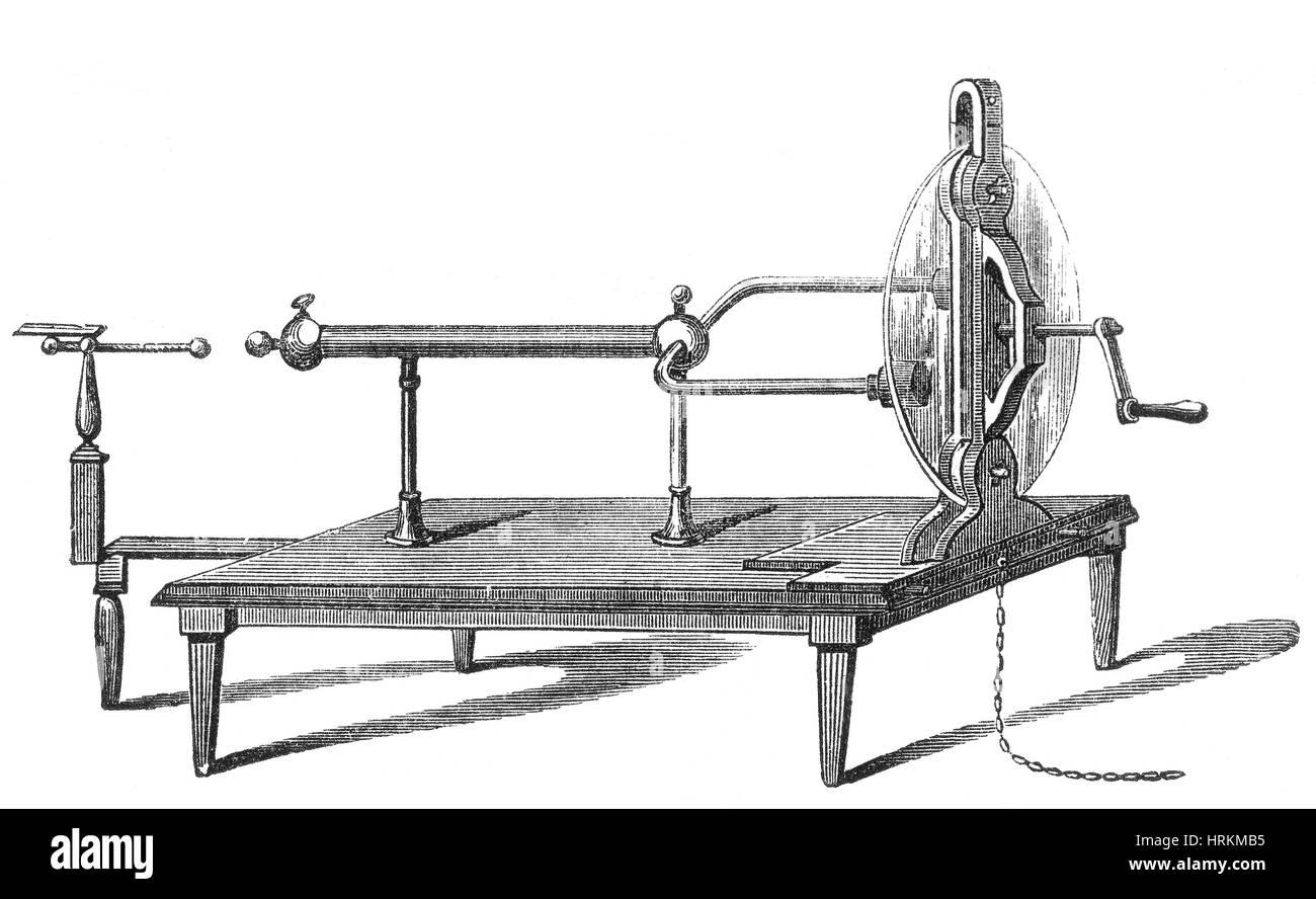 Ramsden Electrostatic Generator, 1768 - Stock Image