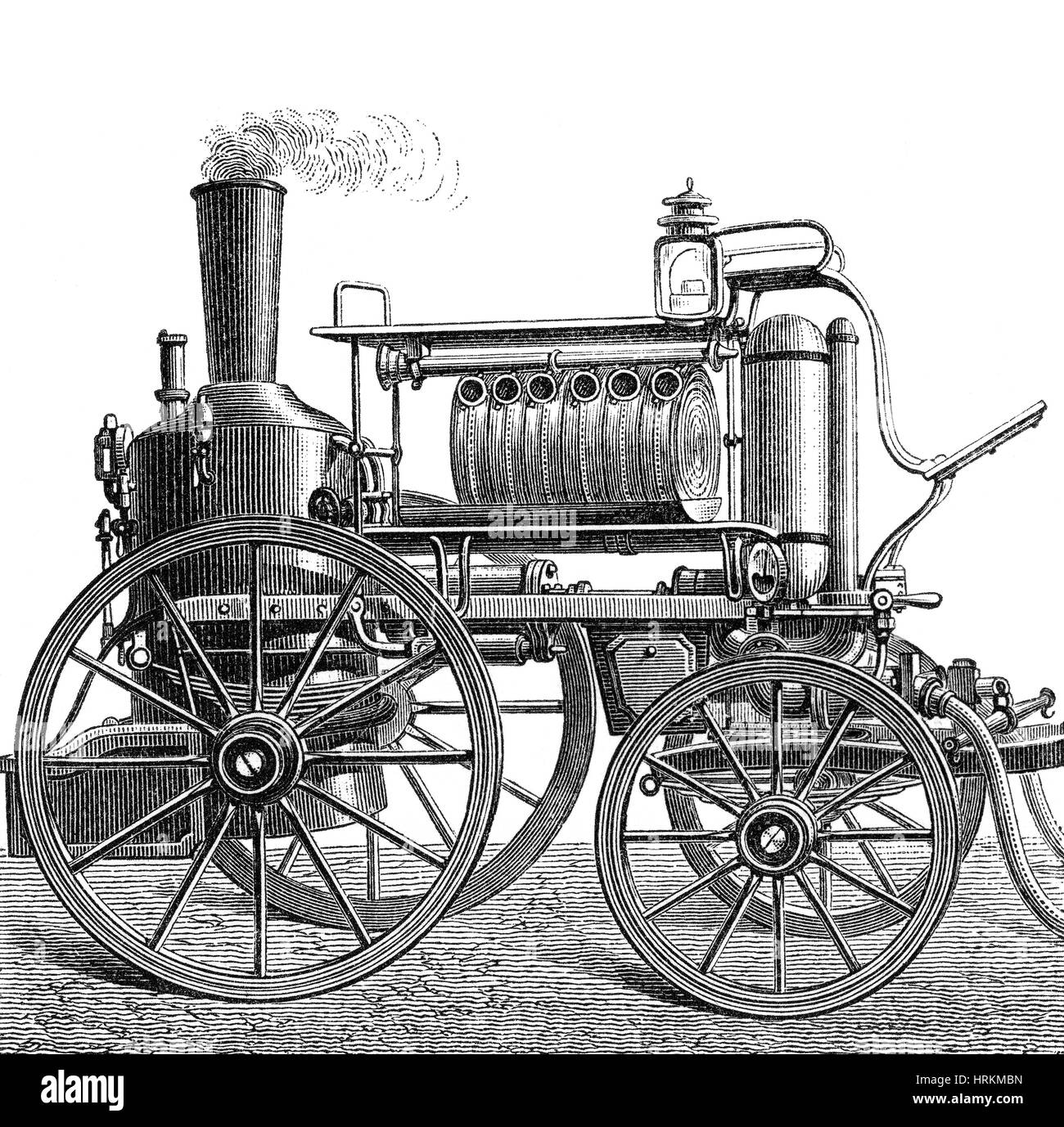 Steam Powered Fire Engine, 19th Century - Stock Image