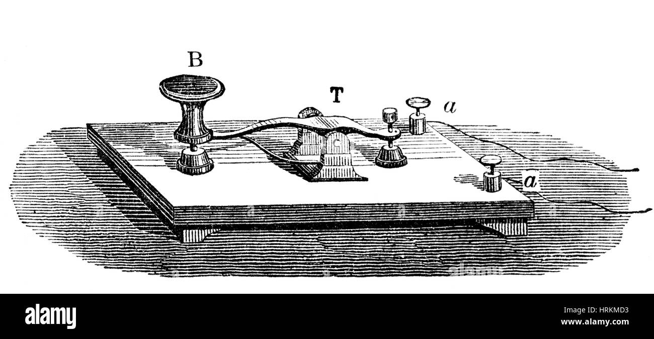 Morse telegraph key 19th century stock photo 135042799 alamy morse telegraph key 19th century asfbconference2016 Choice Image