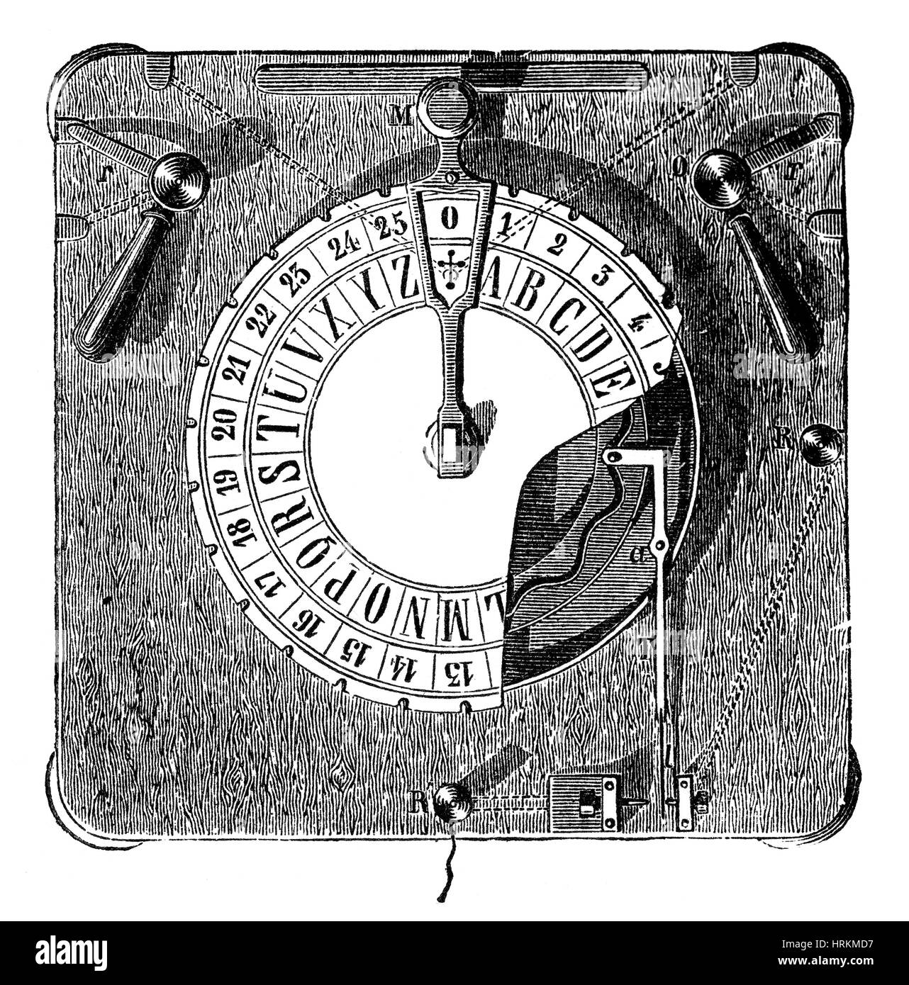 Cooke and Wheatstone Telegraph Dial, 1830s - Stock Image