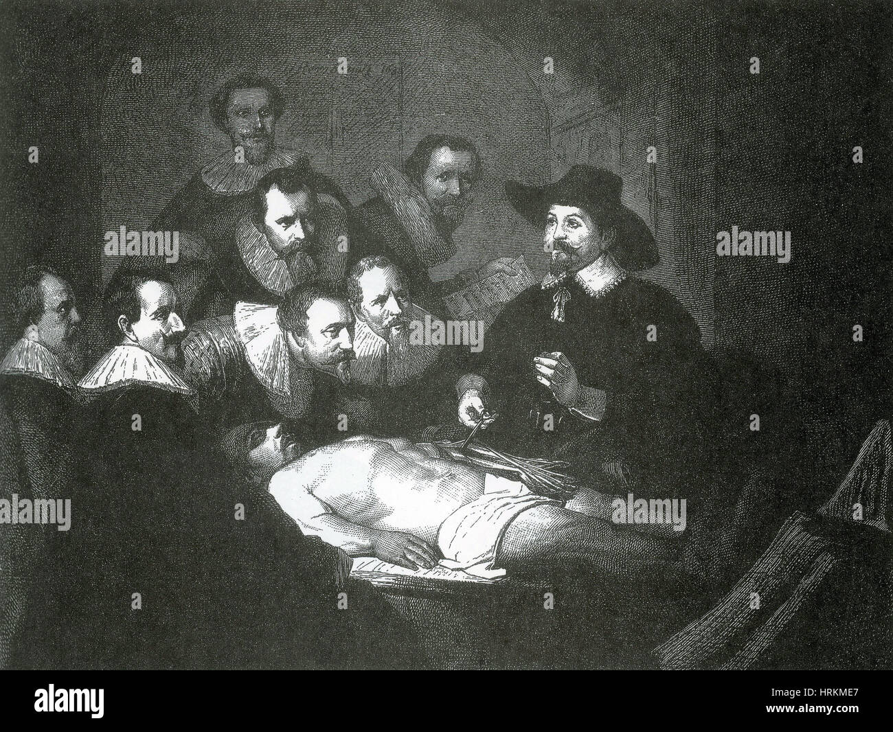 Anatomy Lesson, 1632 - Stock Image
