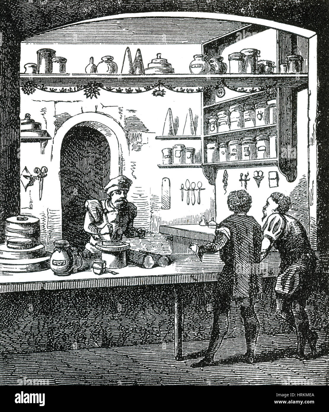 Medieval Apothecary - Stock Image