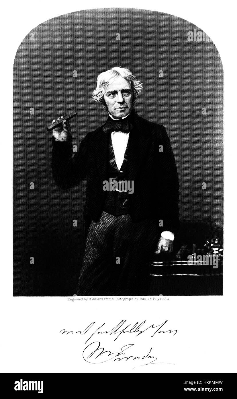 Michael Faraday, English Physicist - Stock Image