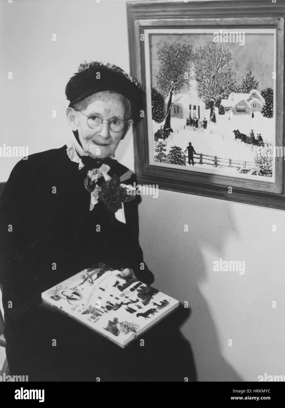 Grandma Moses, American Folk Artist Stock Photo