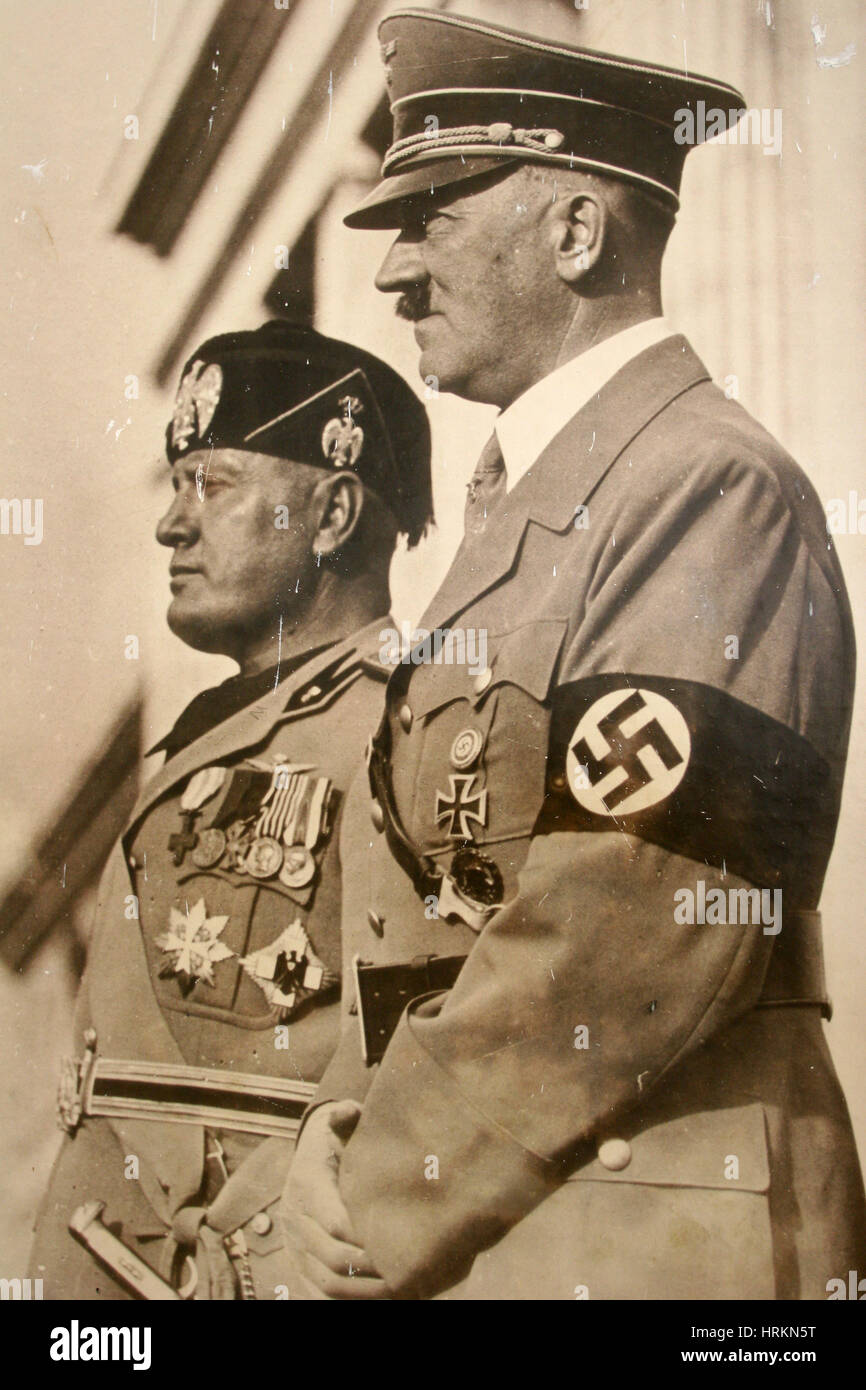 Hitler and Mussolini - Stock Image