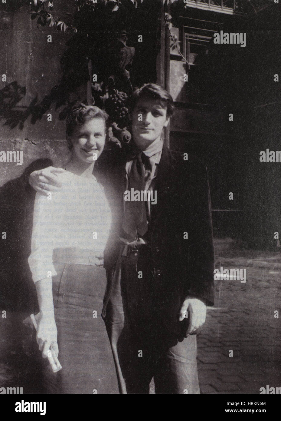 Sylvia Plath and Ted Hughes - Stock Image