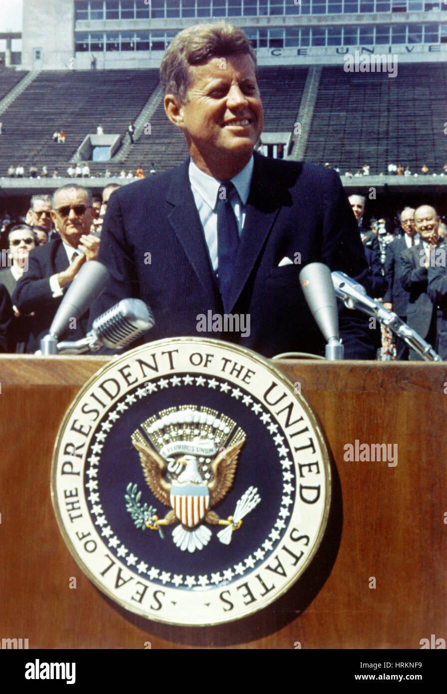 JFK at Rice University - Stock Image