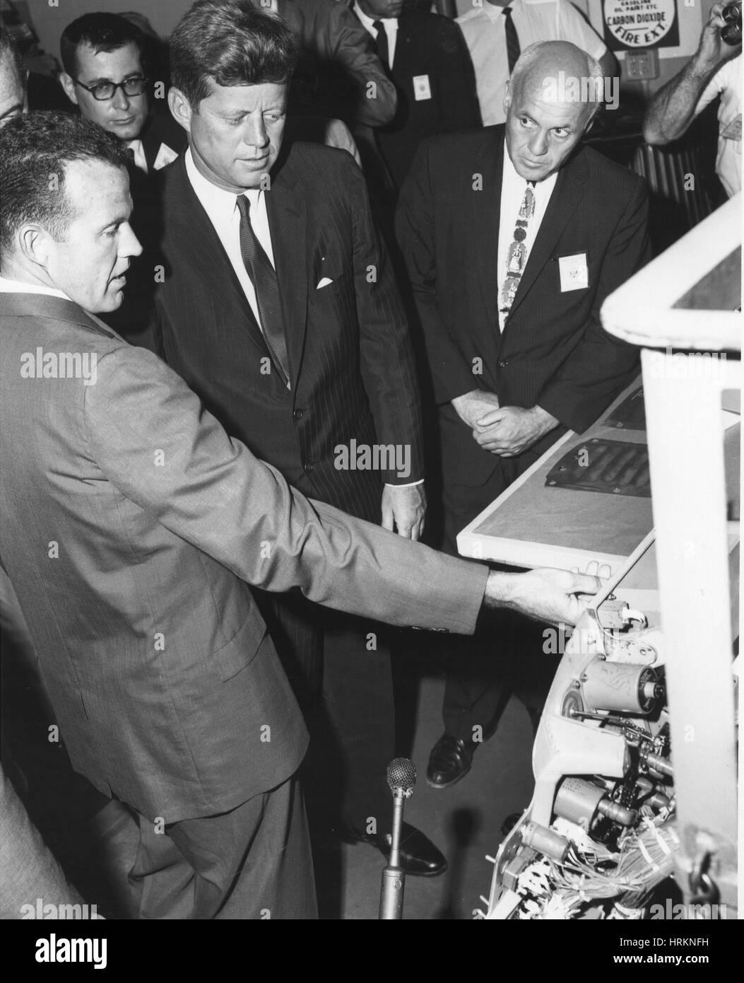 JFK and Gordon Cooper - Stock Image