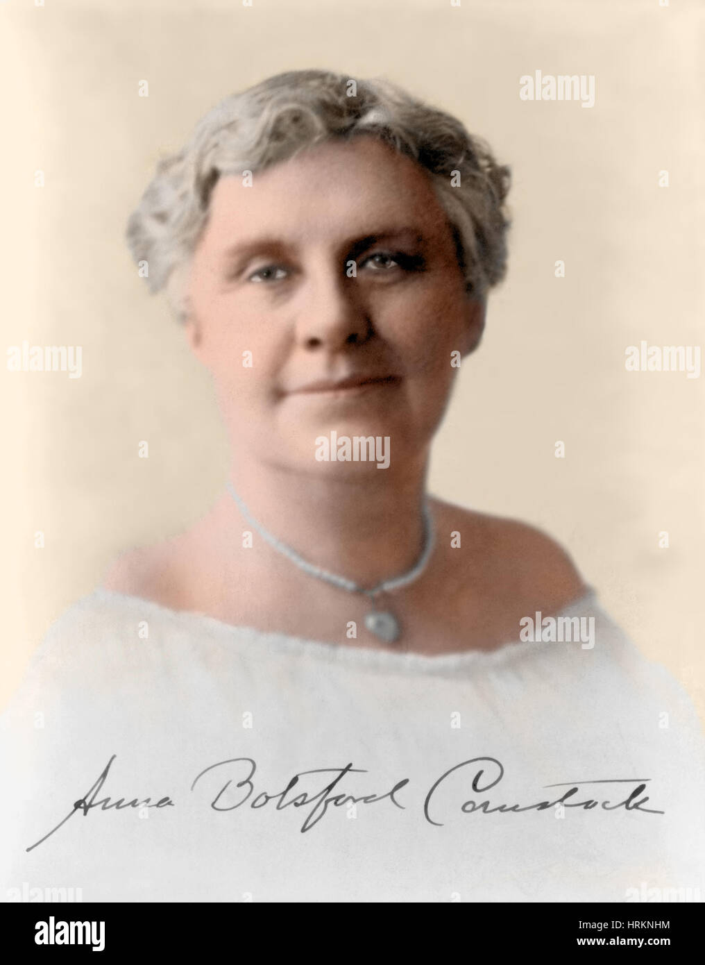 Anna Comstock, American Artist and Educator Stock Photo