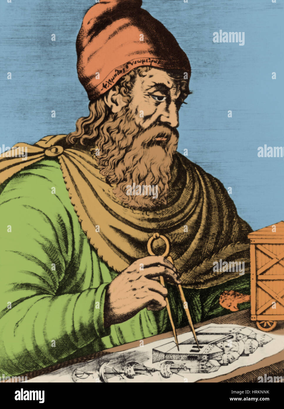 Archimedes, Ancient Greek Polymath - Stock Image