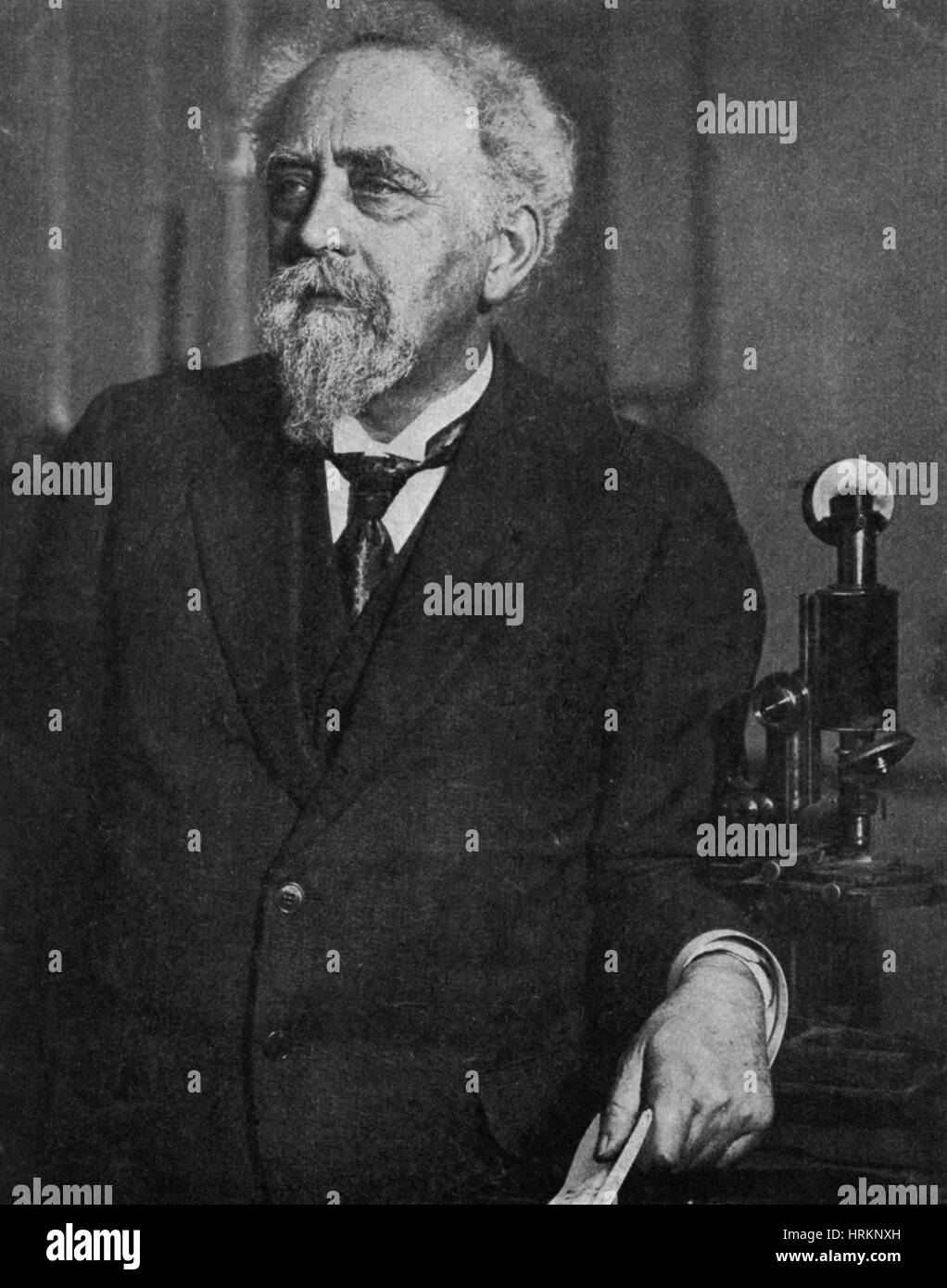 Jean Baptiste Perrin, French Physicist - Stock Image