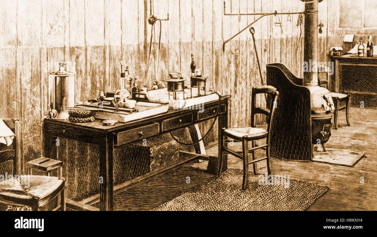 Chemist's Laboratory - Stock Image