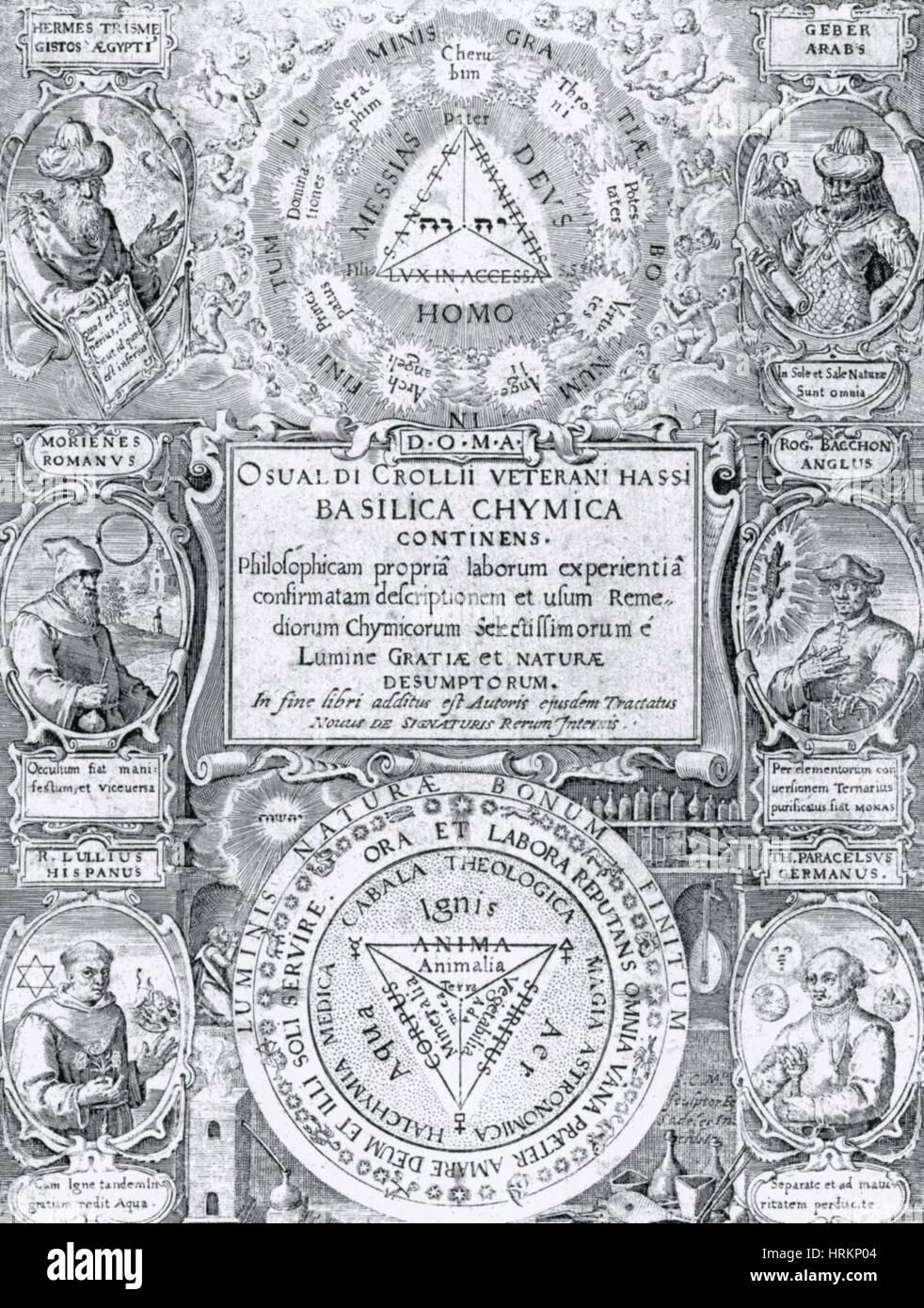 Alchemy Treatise - Stock Image