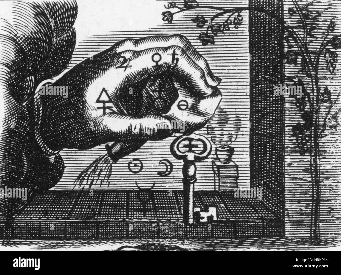 Alchemy Illustration - Stock Image