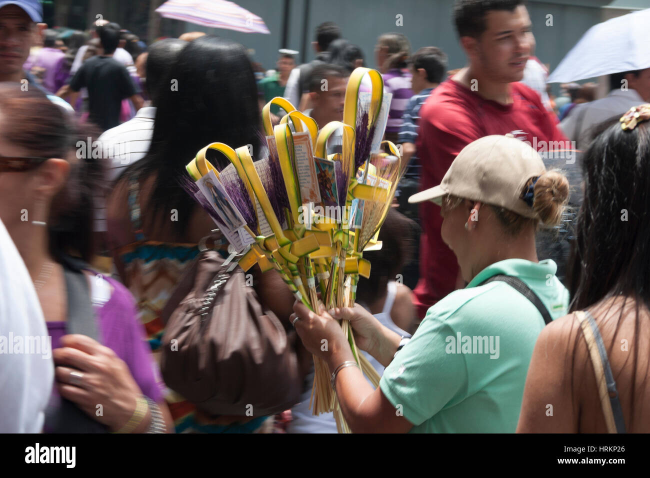 Caracas, Dtto Capital / Venezuela - 04/04/2012. Street sellers in downtown Caracas during Easter. Stock Photo