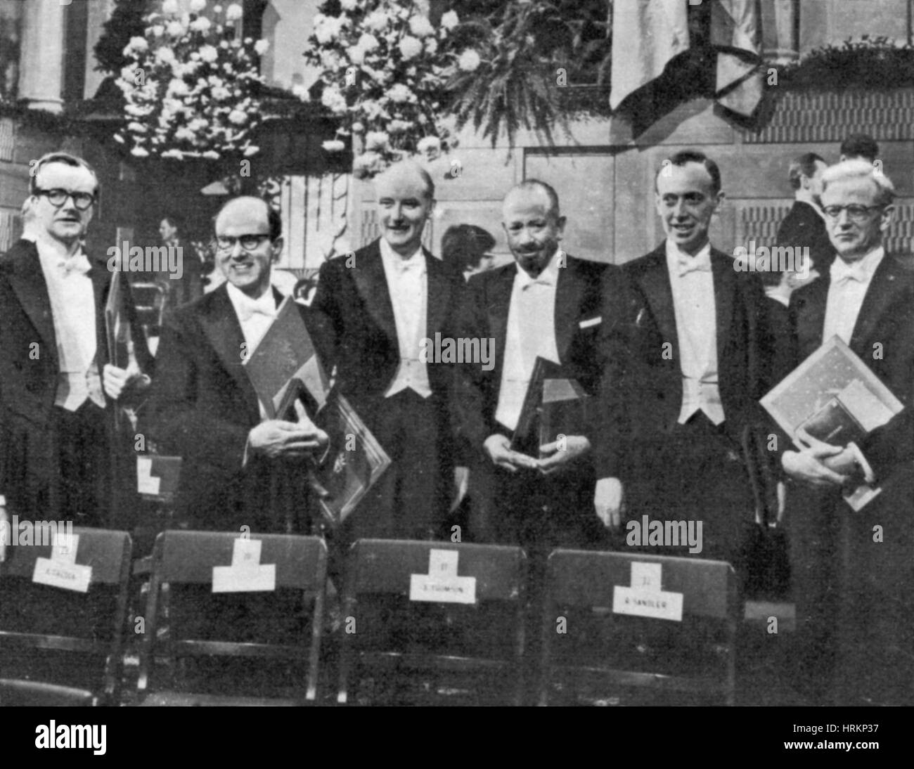 Nobel Prize Winners, 1962 Stock Photo
