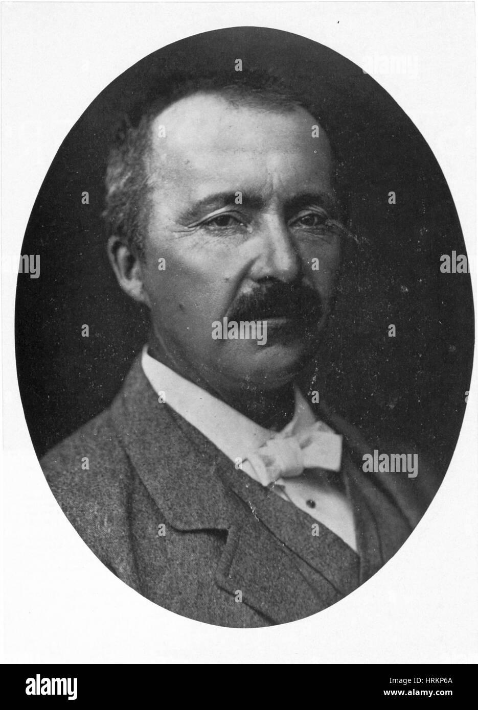Heinrich Schliemann, German Archeologist - Stock Image