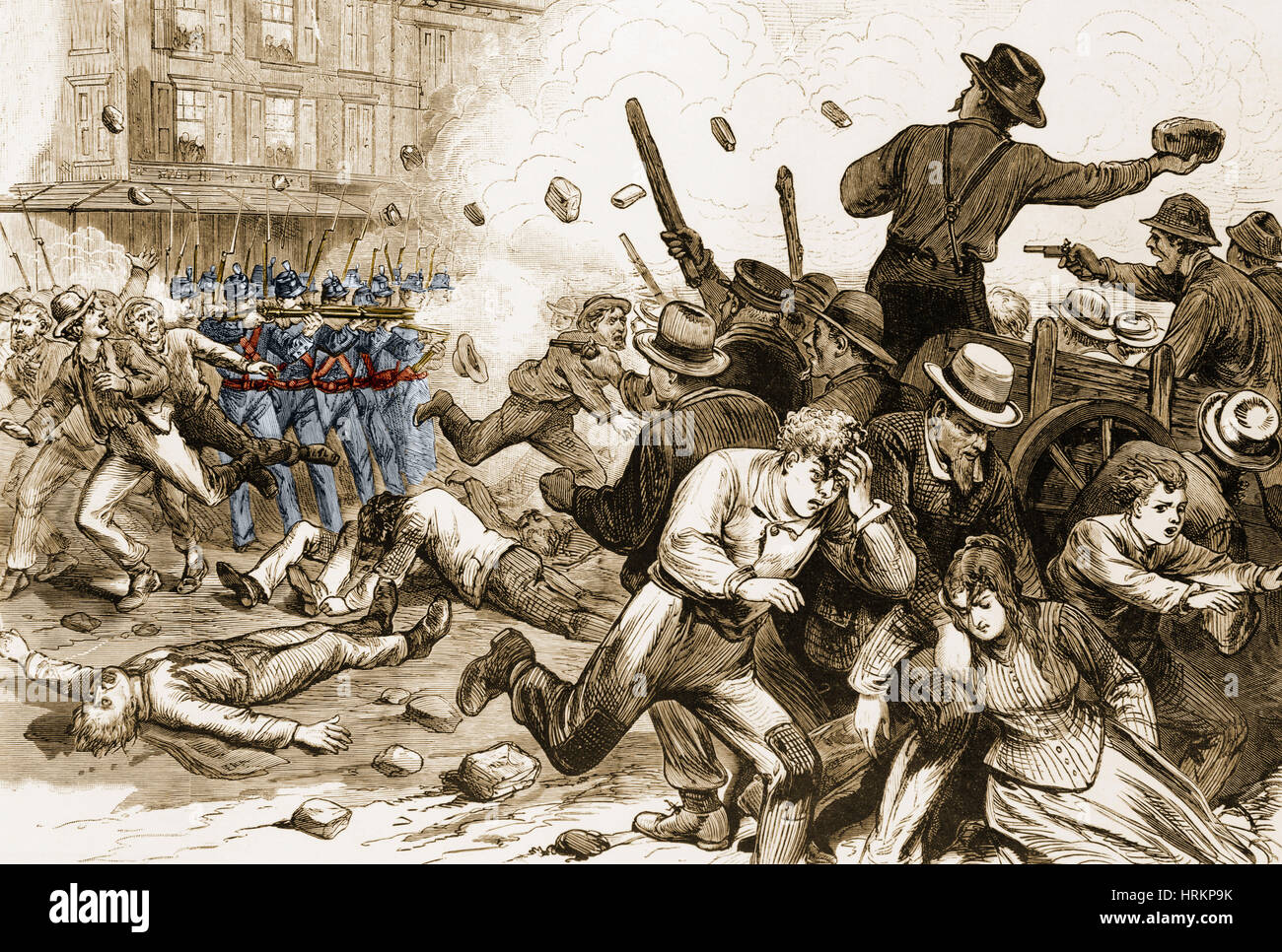 Great Railroad Strike 1877 - Stock Image