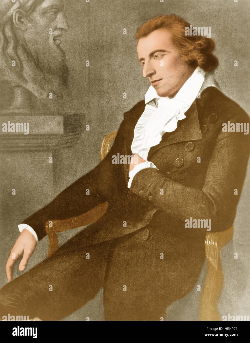 Friedrich Schiller, German Poet and Philospher - Stock Image
