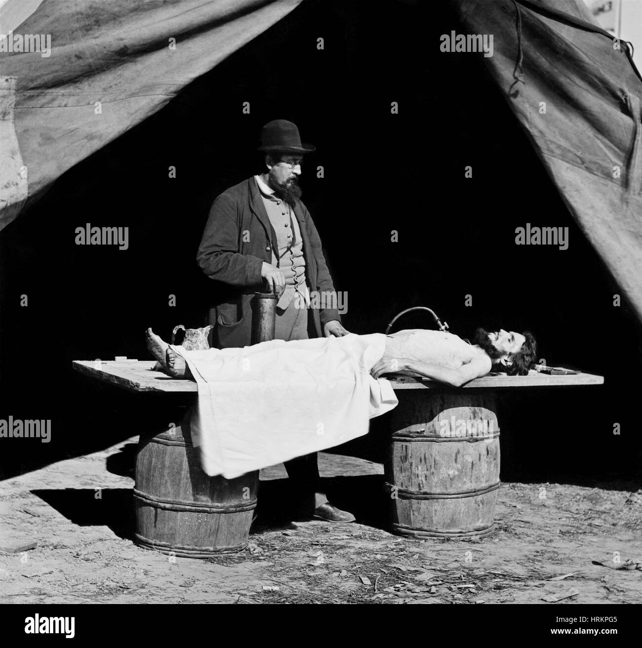 Civil War Embalming - Stock Image