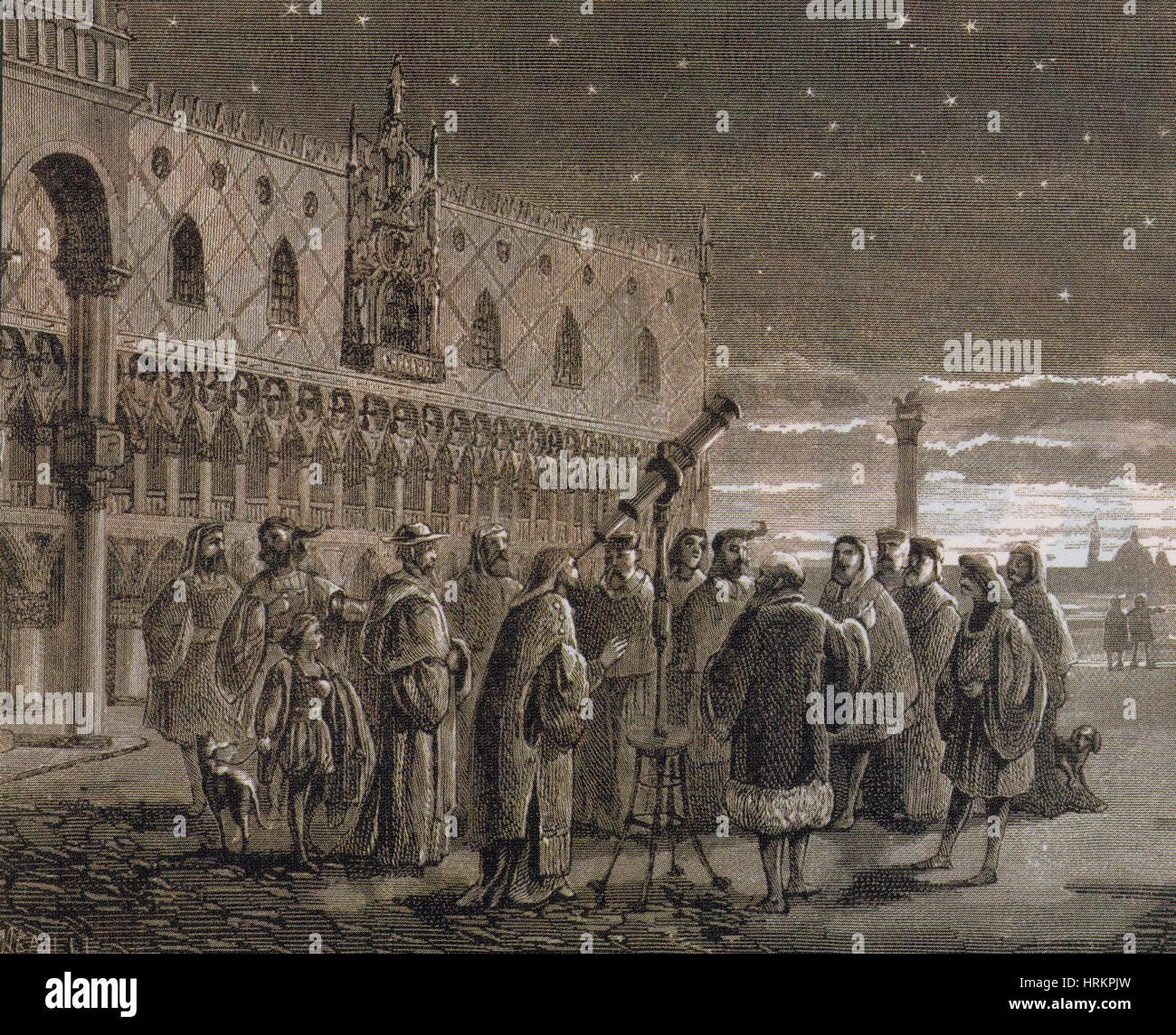 Galileo Galilei Demonstrating His Telescope, 1609