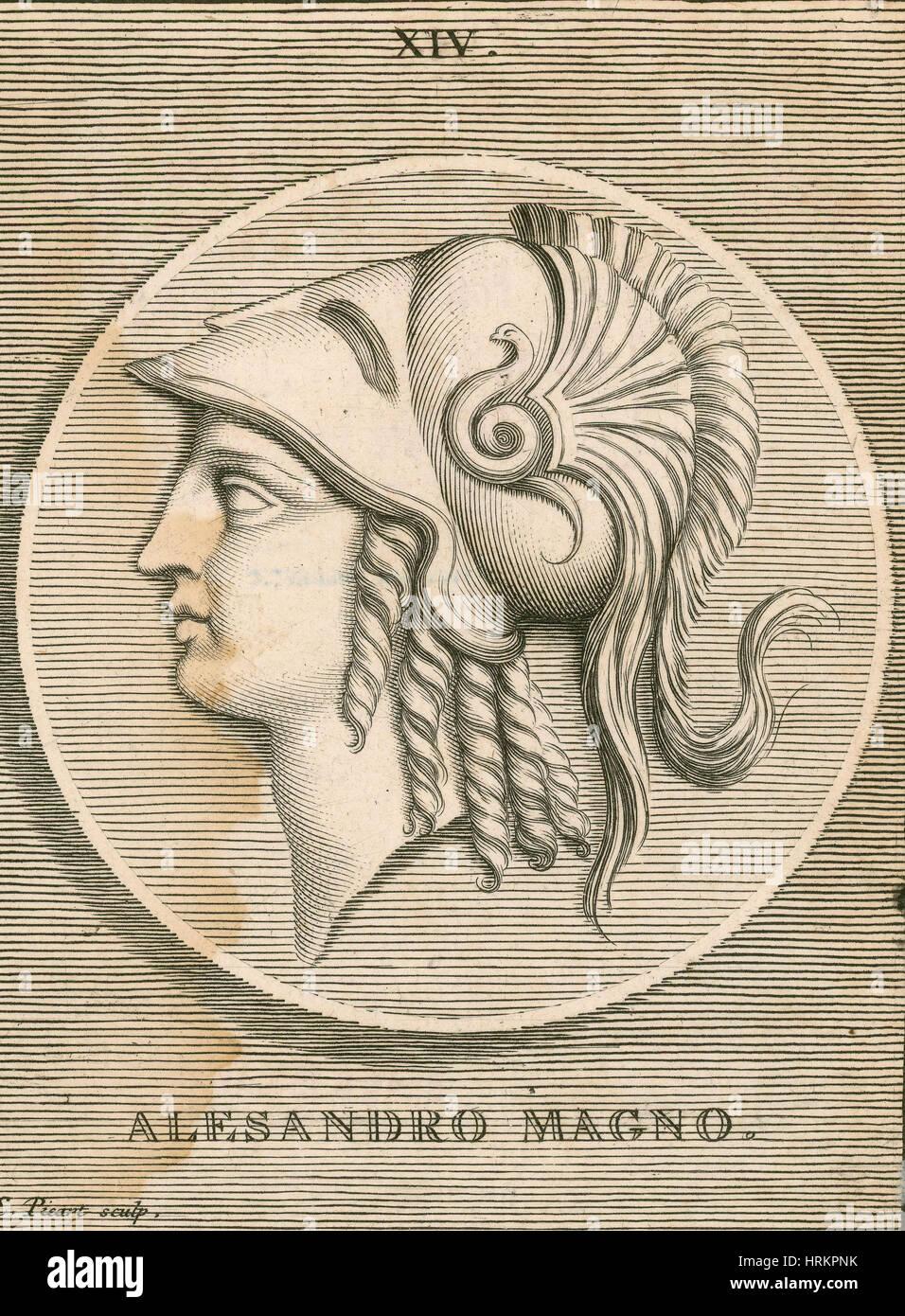Alexander the Great, Greek King of Macedon - Stock Image