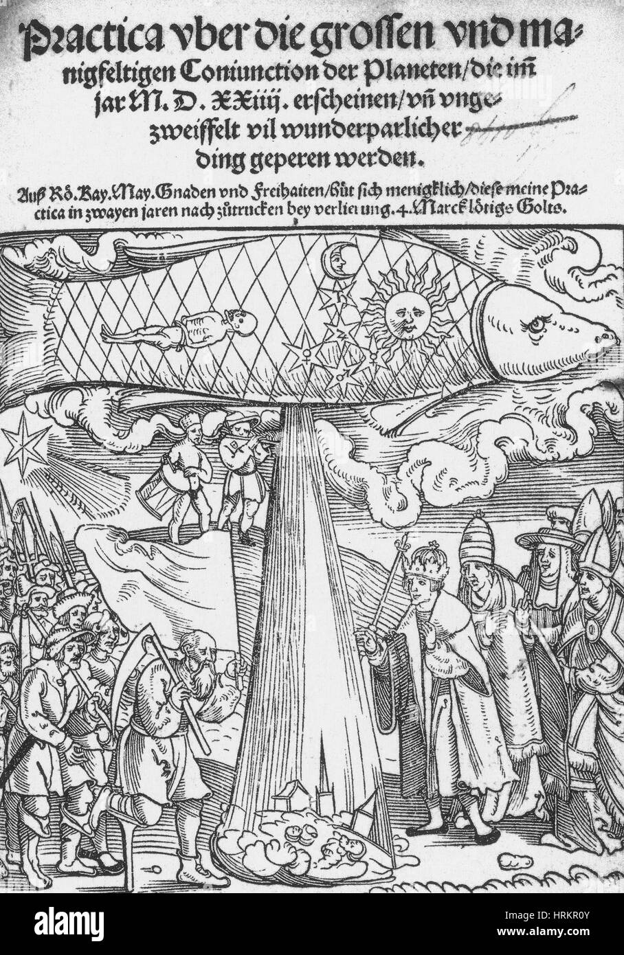 The Great Conjunction, Predicted Floods, 1524 - Stock Image