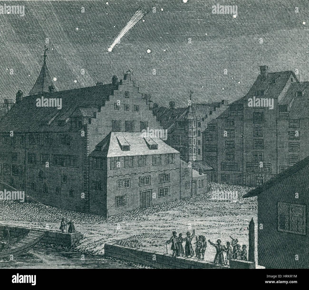 Comet, Einsiedeln Monastery, 1742 - Stock Image
