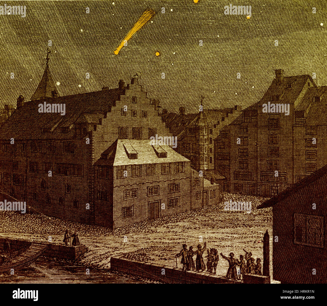 Comet, Einsiedeln Monastery, 1742 Stock Photo