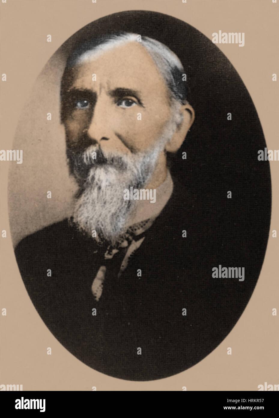 Milton Bradley, American Inventor - Stock Image