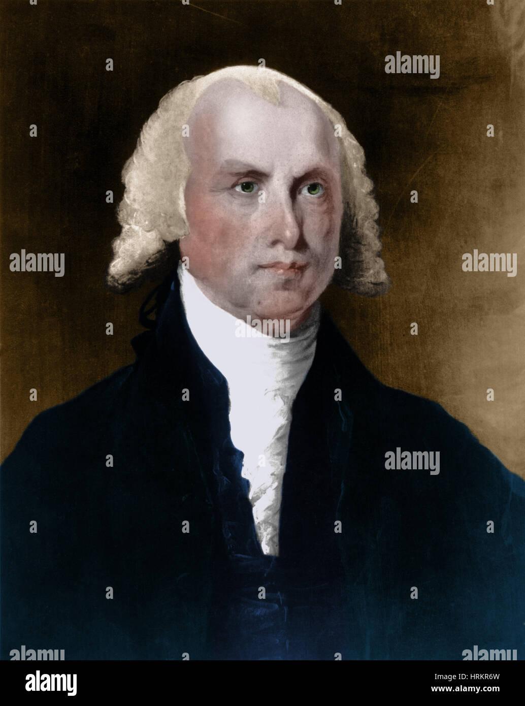 James Madison, 4th U.S. President - Stock Image