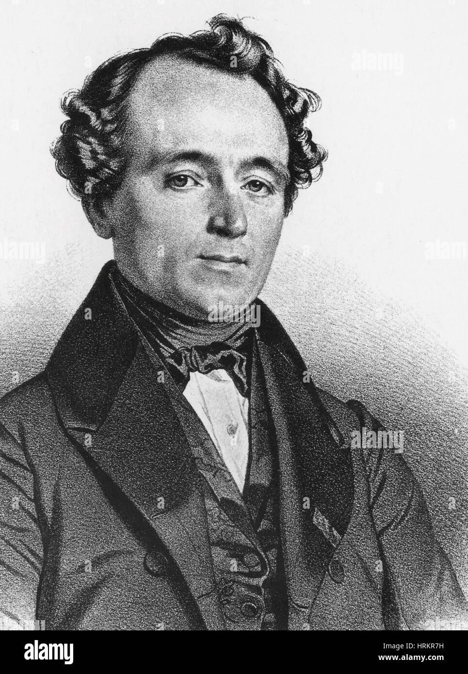 Jean Baptiste Andre Dumas, French Chemist - Stock Image