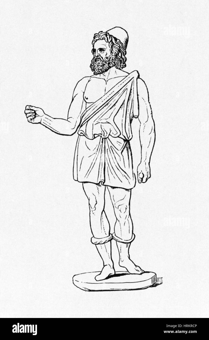 Vulcan, Roman God - Stock Image