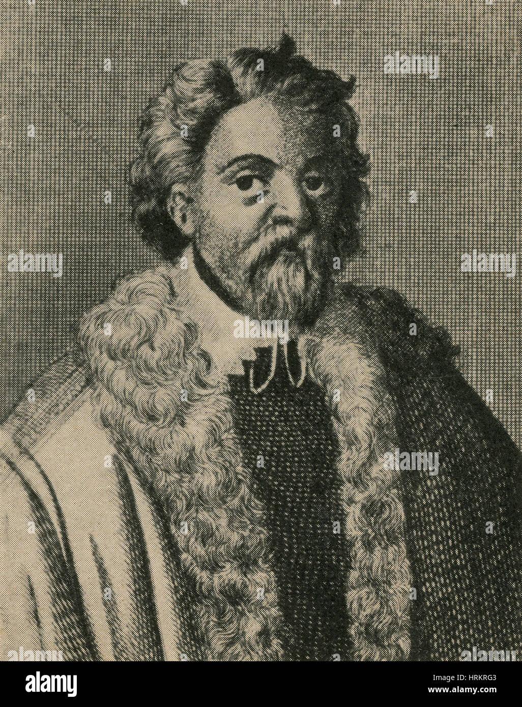 Cornelius Drebbel, Dutch Inventor - Stock Image