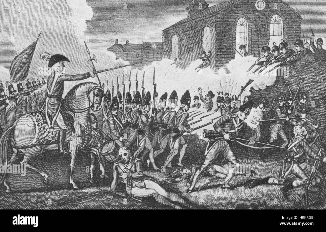 Battle of Concord, 1775 - Stock Image